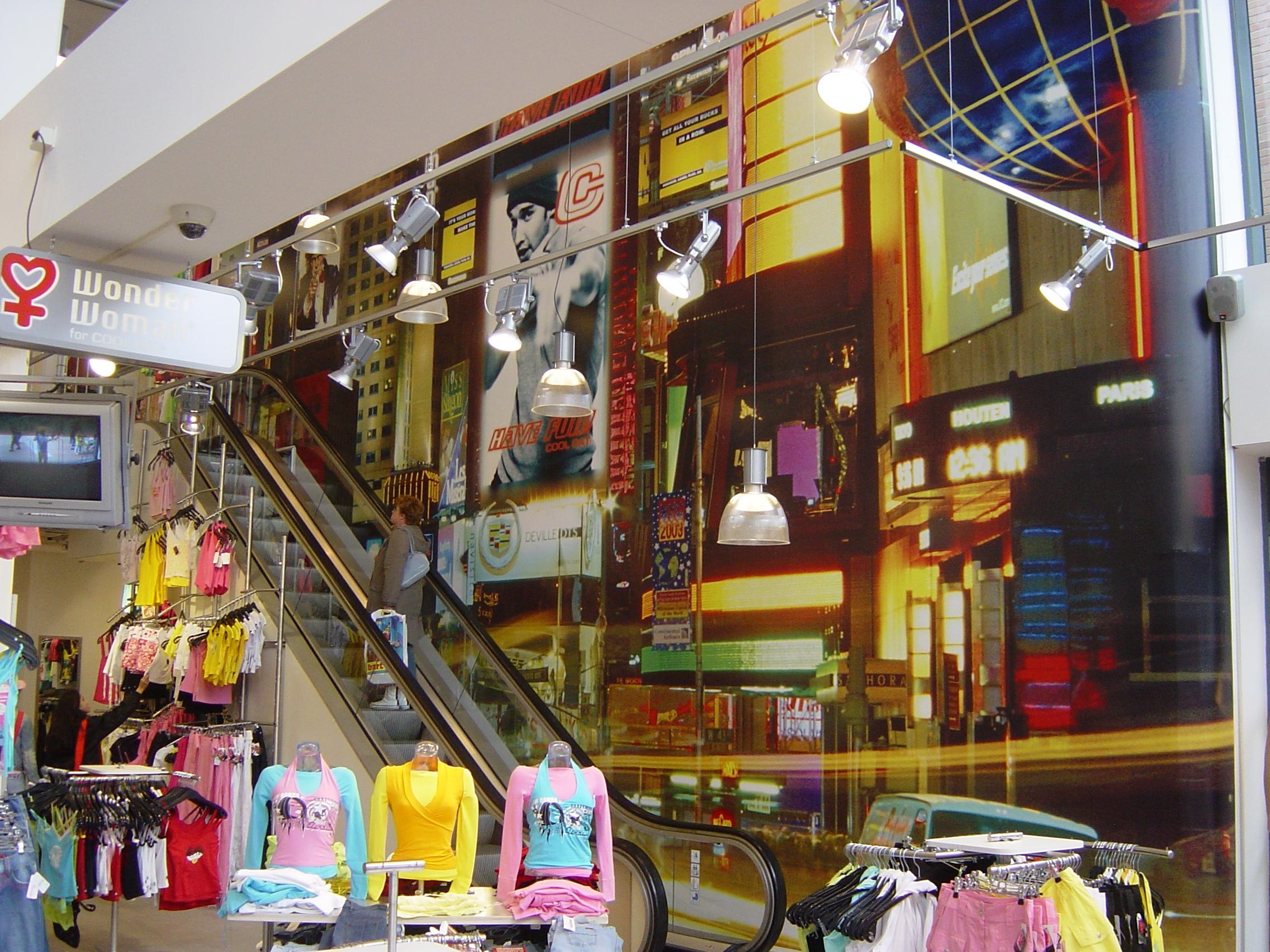 Indoor fotodoek voor point of sale materiaal of etalage decoratie sfeerbeelden en foto s - Tapijt tegel metro ...