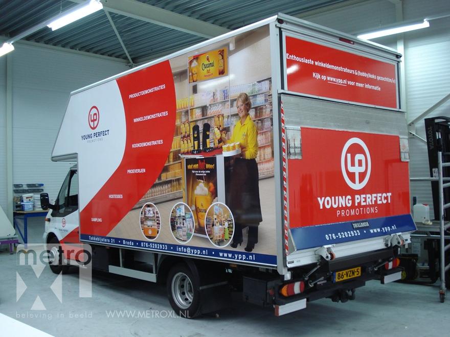 Autoreclame autobelettering vrachtwagen stickers metroxl - Tapijt tegel metro ...