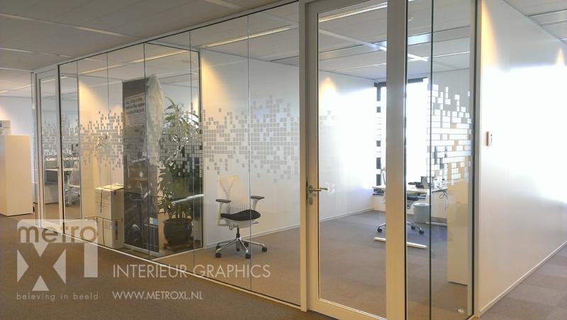Glaswand decoratie raamfolie op kantoorwanden systeemwanden van glas voorzetwand - Decoratie ontwerp kantoor ontwerp ...