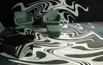 Grafische print op wand n vloer metroxl - Tapijt tegel metro ...