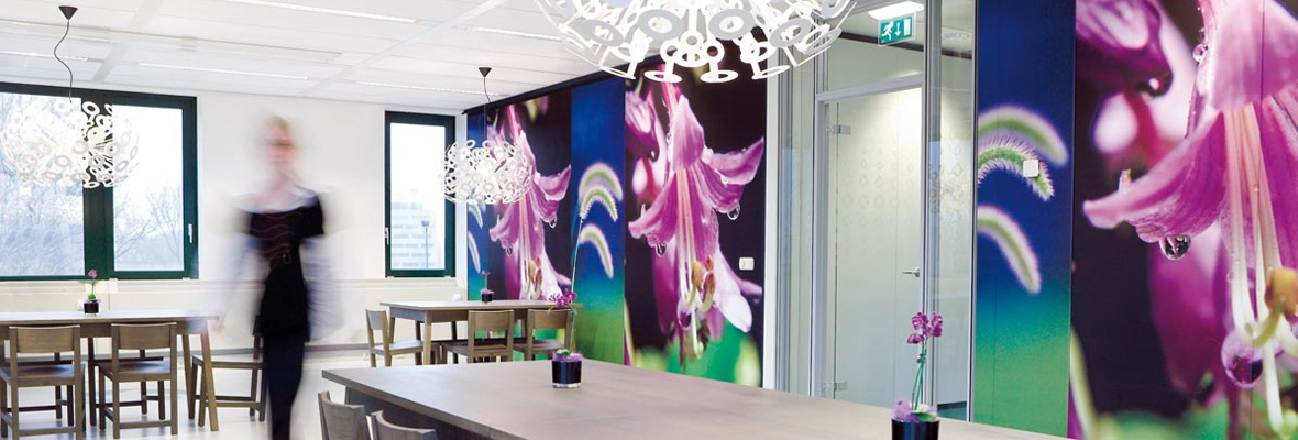 Interieur decoratie maatwerk fullcolour prints vakkundig for Interieur decoratie winkels