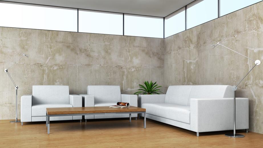 Een industri le uitstraling met betonlook metroxl - Beton muu room in ...