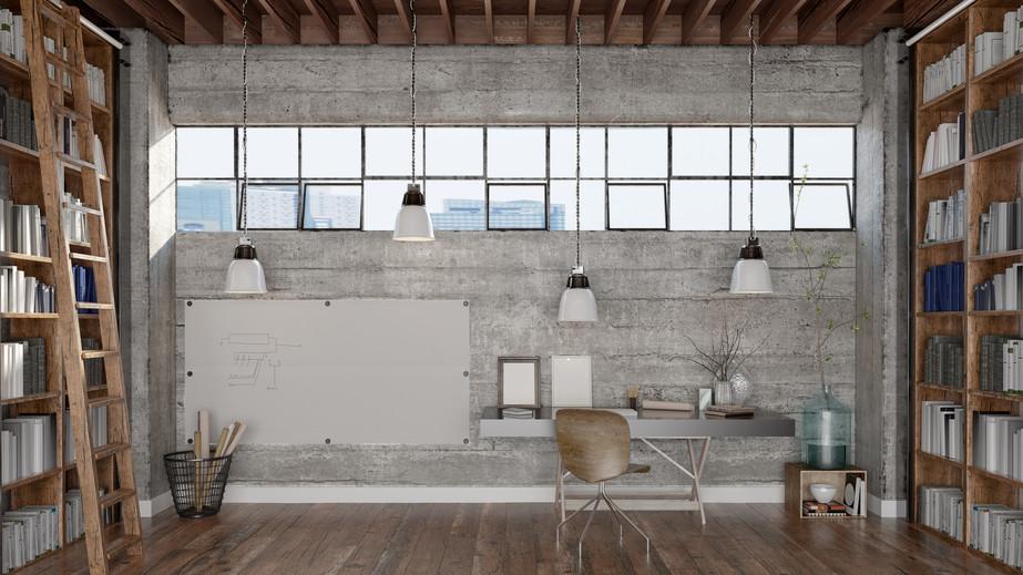 Een industri le uitstraling met betonlook metroxl for Foto di loft arredati