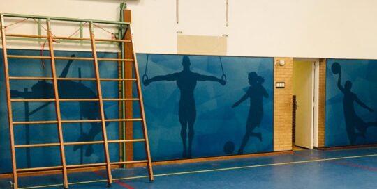 akoestische wand gymzaal Heerenveen