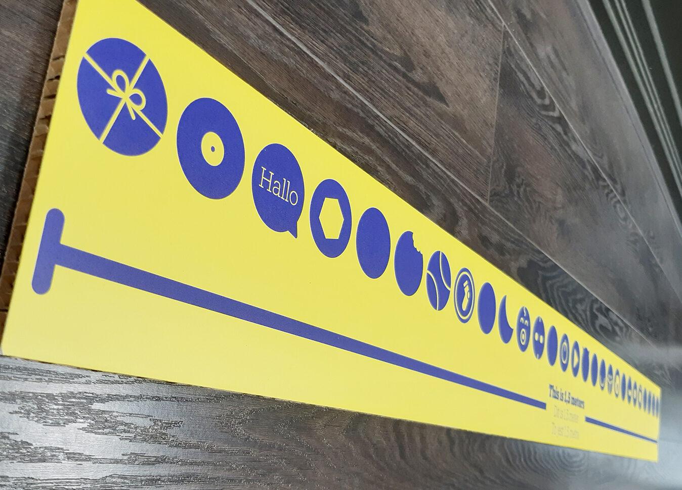 1,5m meetlat bol.com corona signing