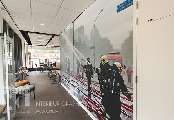 fotowand actiefoto brandweer Waalwijk door MetroXL