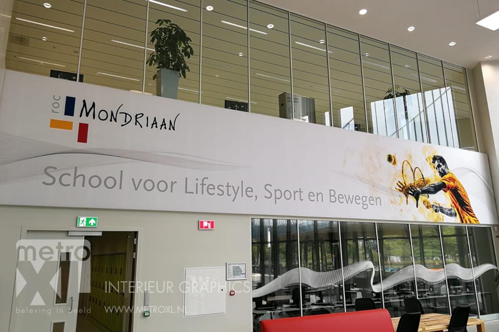 XXL Fotopaneel akoestisch sportfaciliteit ROC Mondriaan