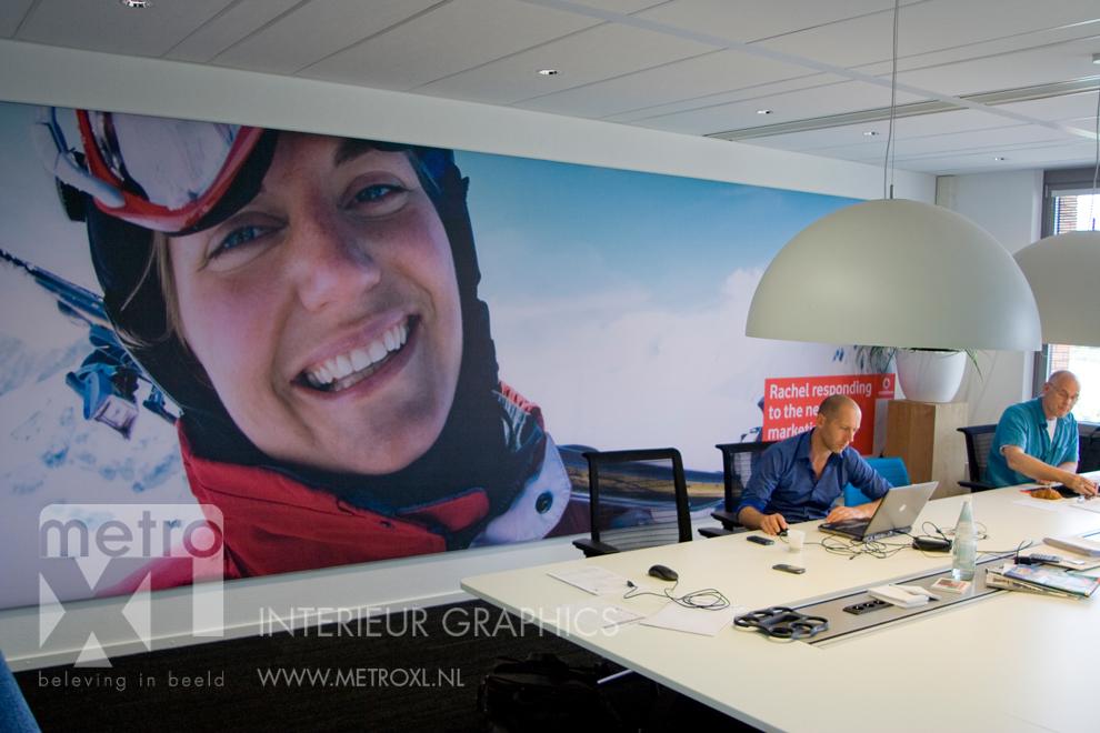 Wandvullende bekleding Vodafone