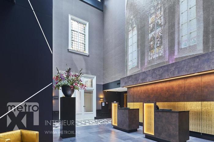 Wanddecoratie met mozaiek Hotel Nassau entree