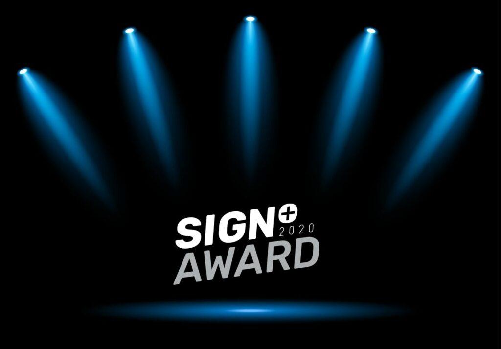 Uitreiking Sign+ Awards 2020
