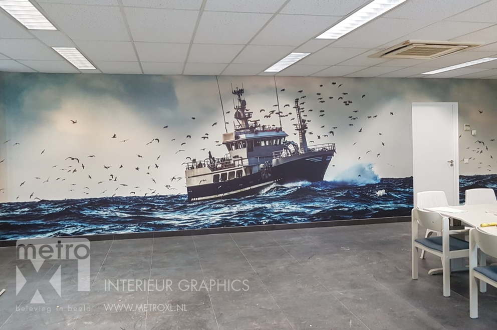 Fotobehang vissersboot Bond Seafood