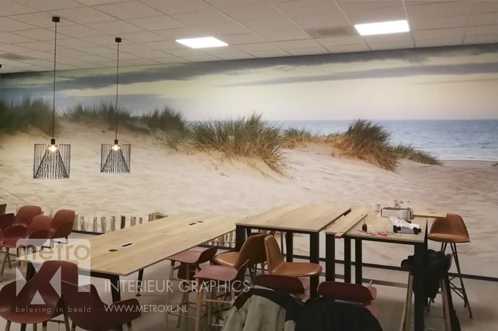 Wandvullende bekleding duinen vergezicht