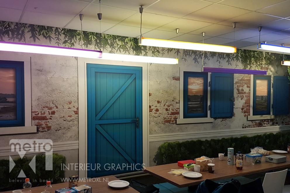 Fotobehang kantine Interieurbouw Heusden