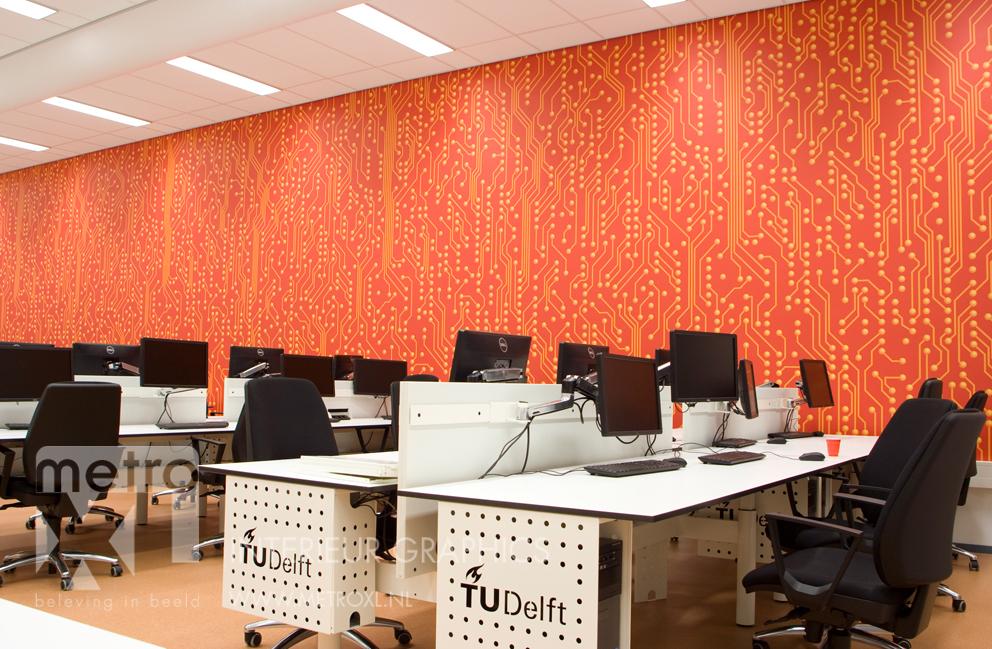 Wandprint TU Delft