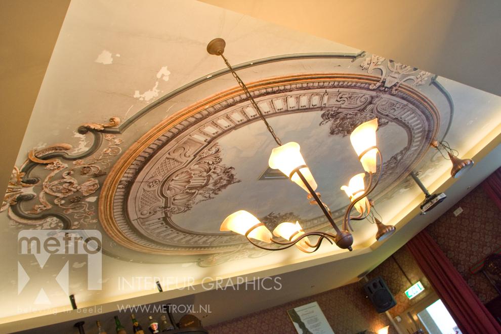 Fotobehang plafond klassiek renovatie