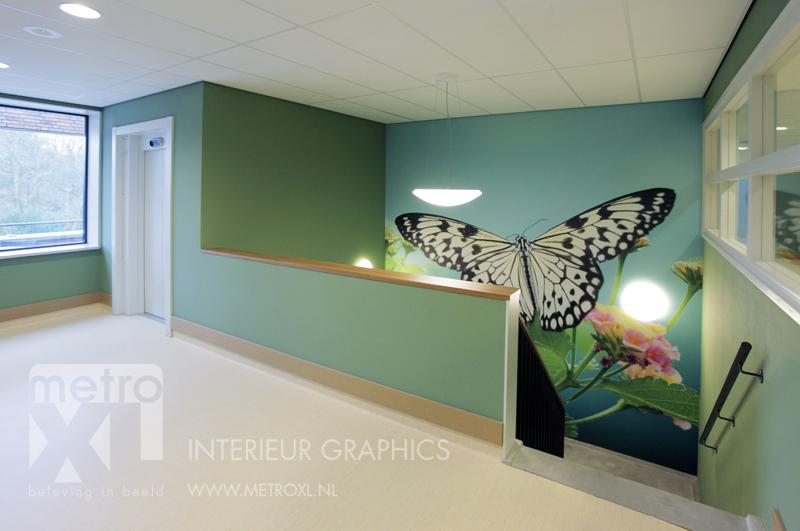 Interieur print vlinder