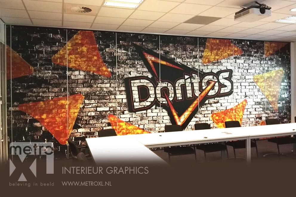 Bestickering systeemwand Doritos