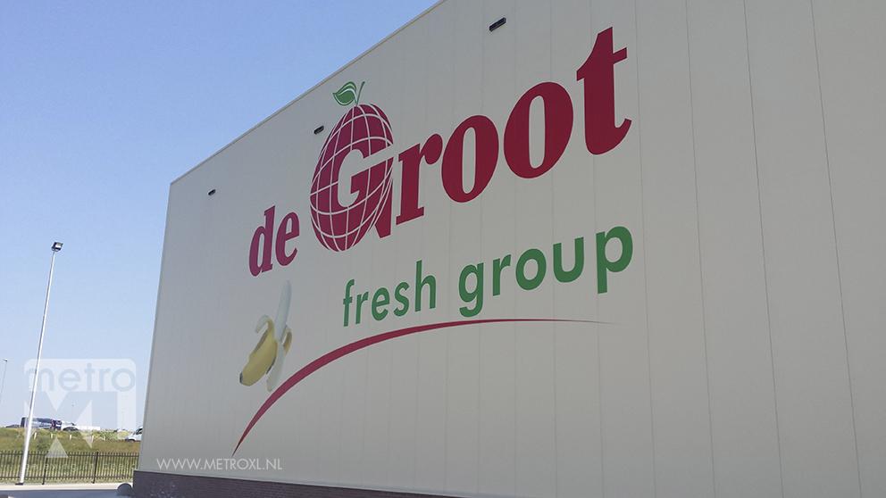 Gevelbelettering De Groot fresh group Buitengevel sticker