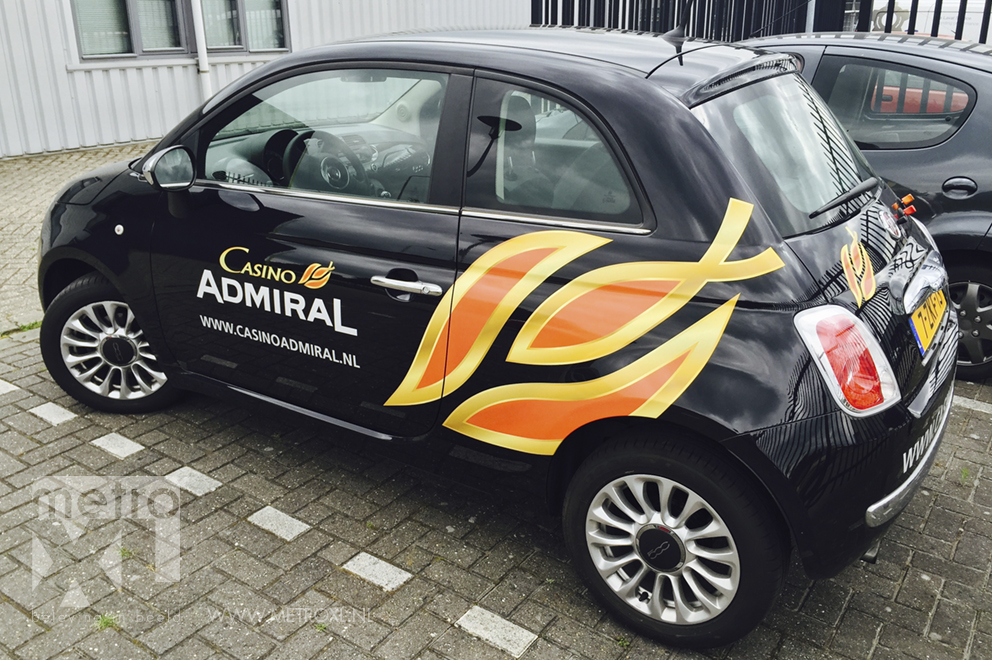 Autobelettering Casino Admiral Waalwijk