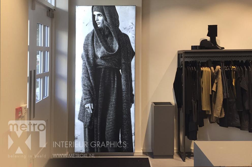 lumiwall verlichte visuals winkel store