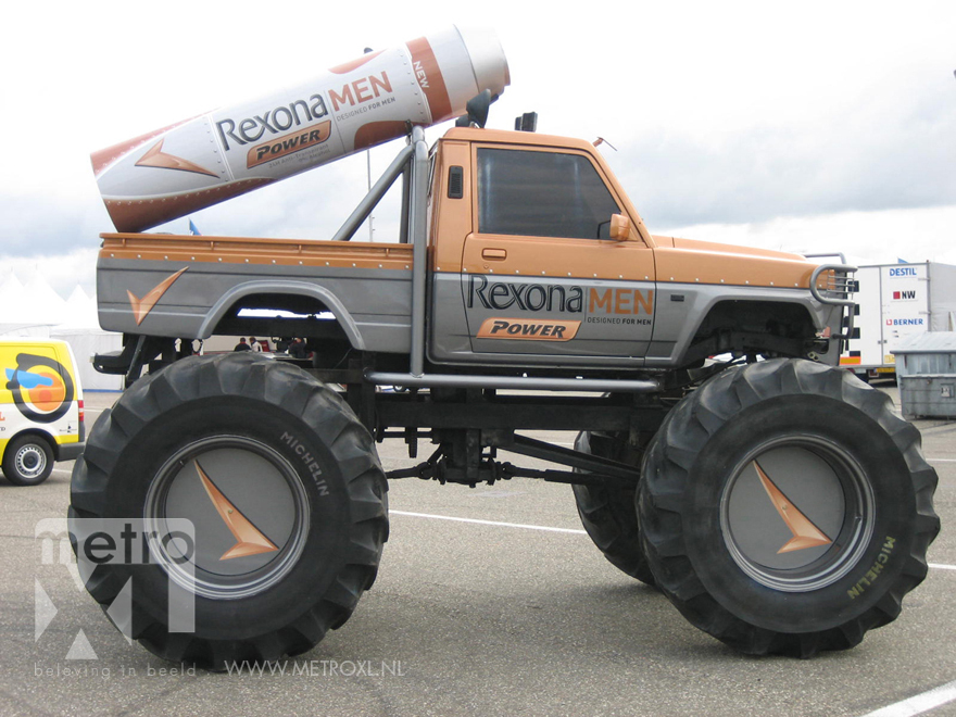 Carwrap monstertruck Rexona