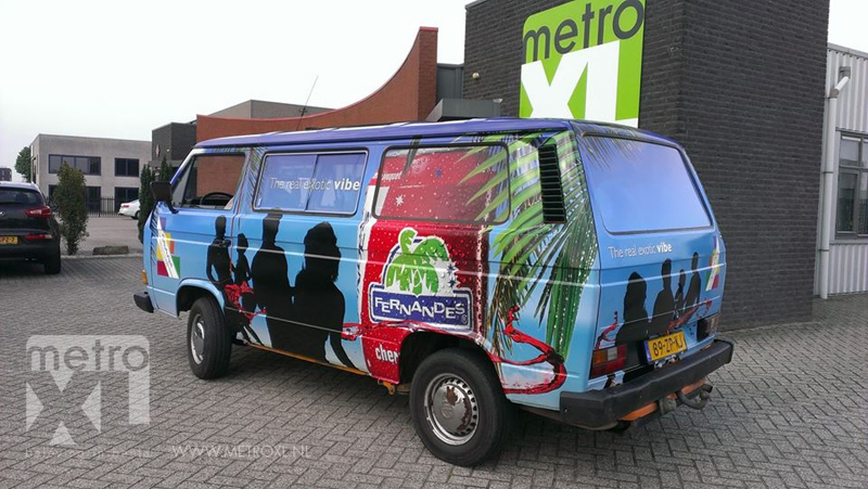 Bedrijfsbus wrappen full colour Fernandes