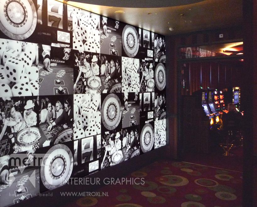 Lumiwall Casino zwart wit
