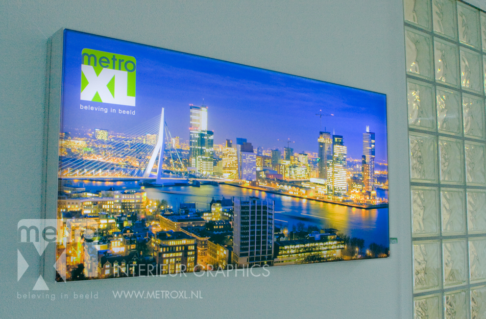 Lumiwall Skyline Rotterdam MetroXL