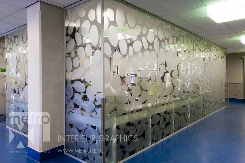 Gesneden Etsglas folie op glaswand patroon