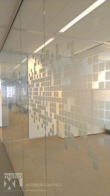 Gesneden Etsglas op glaswanden patroon