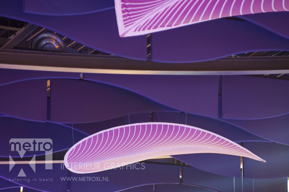 Pool sound wall absorbers baffle ceiling Sportiom den bosch